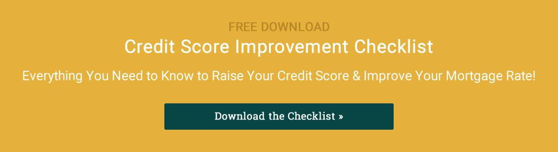 Credit Score Improvement Checklist